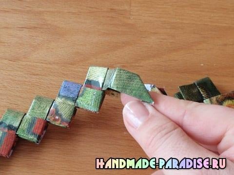 Браслеты из оберточной бумаги (7)