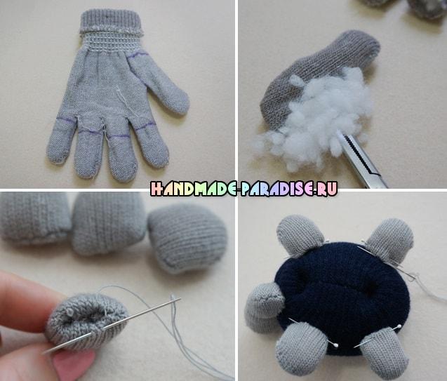 Черепашка из перчатки (2)