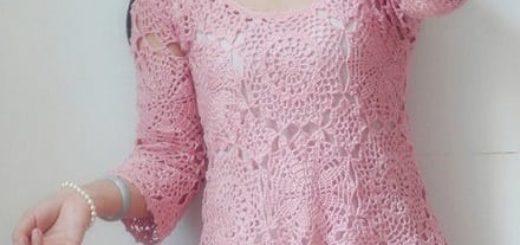 Летняя ажурная блуза крючком. Схемы