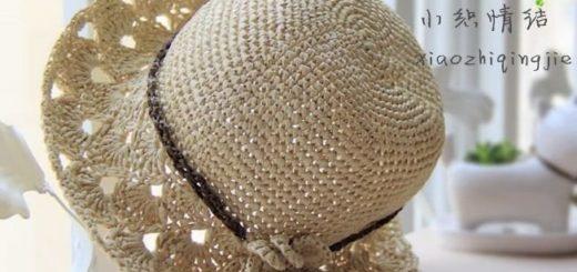 Летняя шляпка крючком. Схема