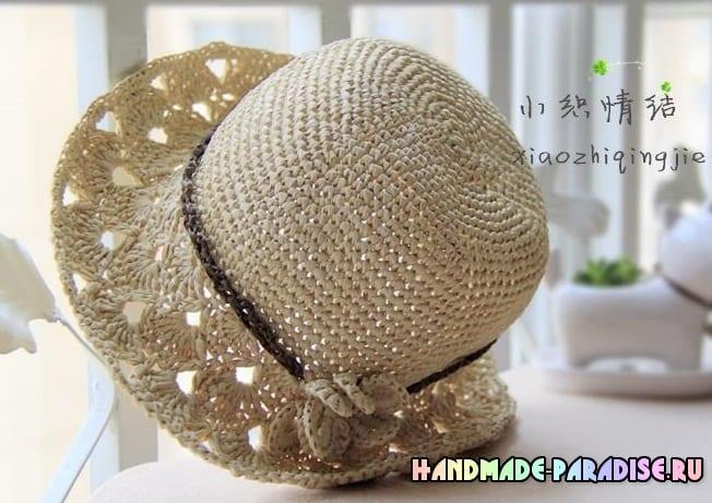 Схема вязания летней шляпки крючком