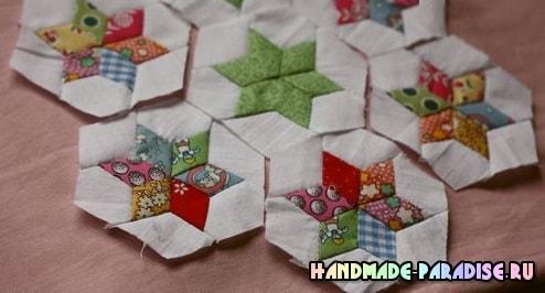 Лоскутное детское одеяло со звездочками (4)