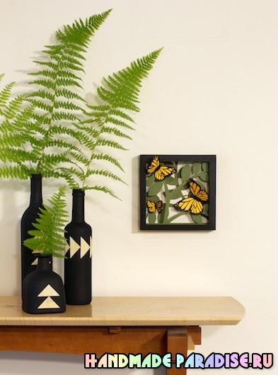 Панно с бабочками - 3D декор на стену