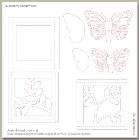 Панно с бабочками - 3D декор на стену (3)