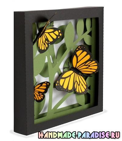 Панно с бабочками - 3D декор на стену (4)