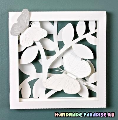 Панно с бабочками - 3D декор на стену (5)