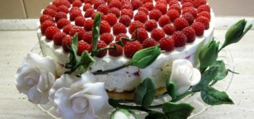 Рецепт малинового торта
