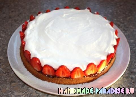 Шоколадный клубничный торт (6)