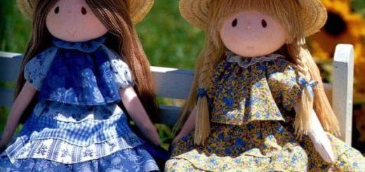 Самые красивые текстильные куклы. Выкройки