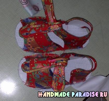 Выкройка детских сандалей (3)
