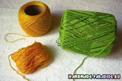 Как связать одуванчик крючком (5)