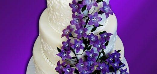 Колокольчики из сахарной мастики для торта