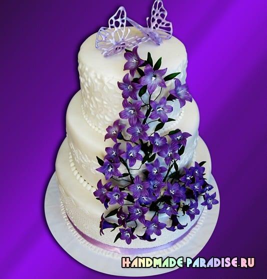 Колокольчики из сахарной мастики для торта (8)