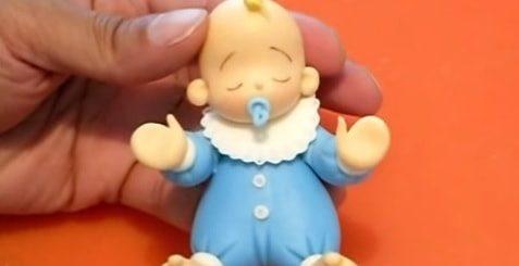 Лепка младенца из холодного фарфора