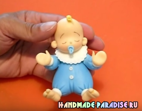 Лепка младенца из холодного фарфора (2)