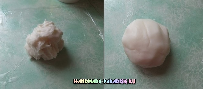 Лепка младенца из холодного фарфора (5)