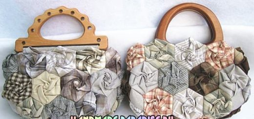 Лоскутные сумочки в розочках. Мастер-класс