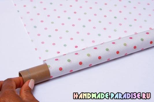 Оформление подарочной корзины папиросной бумагой