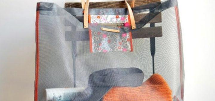 Пляжная сумка из москитной сетки