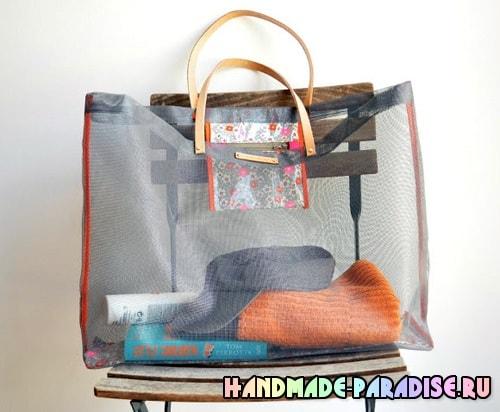 Пляжная сумка из москитной сетки (2)