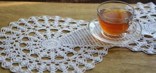 Салфетки крючком - схемы вязания