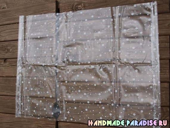 Как сшить сумку из полиэтиленовой скатерти (2)