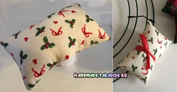 Декоративные венки из текстильных подушечек (3)