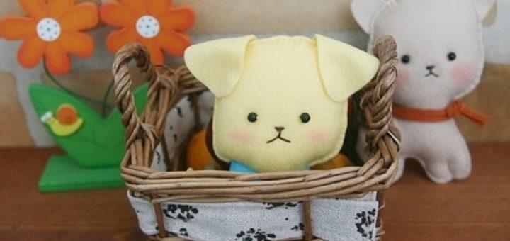 Как сшить игрушку - маленького щенка из фетра