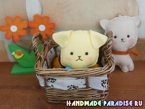 Как сшить игрушку - маленького щенка из фетра (3)