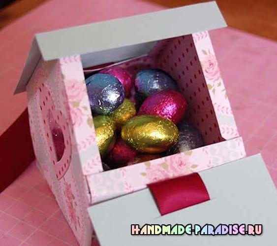 Скворечник из бумаги - подарочная упаковка для конфет (4)
