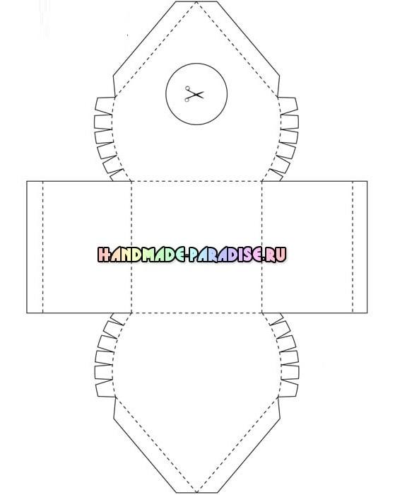 Скворечник из бумаги - подарочная упаковка для конфет (6)