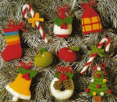 Вязаные новогодние игрушки (2)