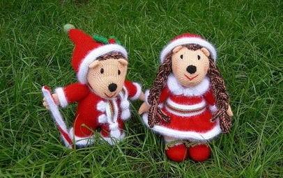 Вязаные новогодние игрушки (5)