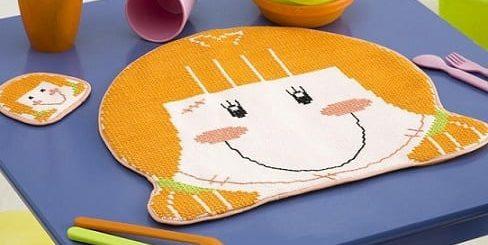 Вышиваем детскую подставку под горячее