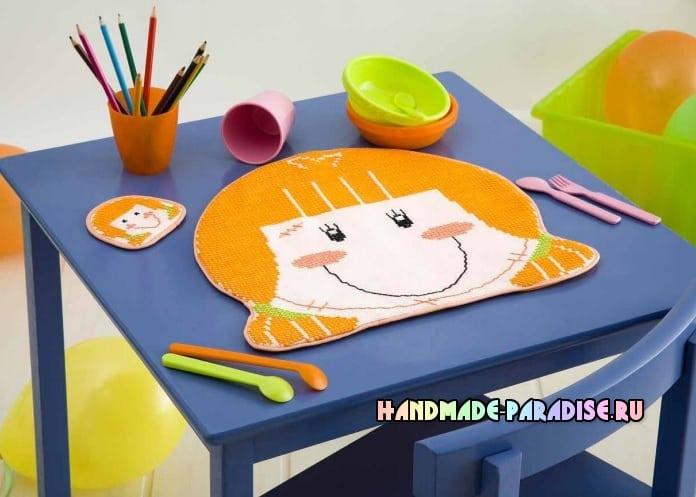 Вышиваем детскую подставку под горячее (3)
