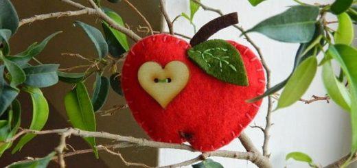 Яблочки и груши из фетра