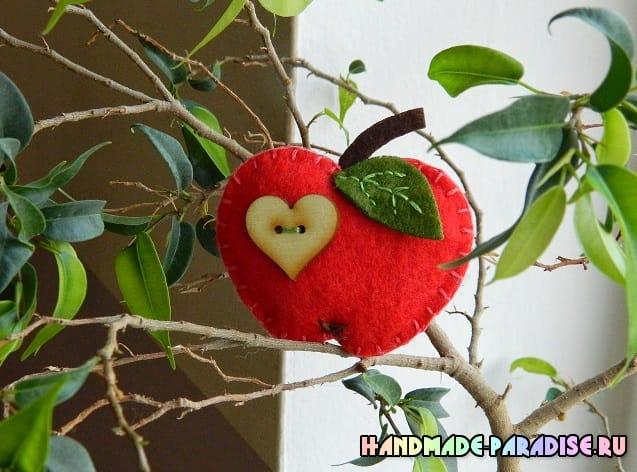 Яблочки из фетра (4)