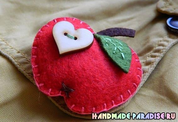 Яблочки из фетра (5)