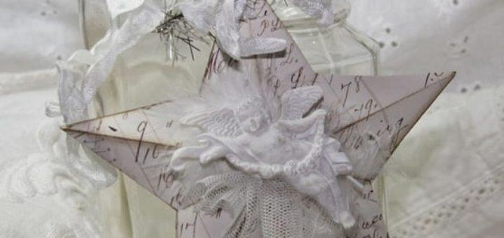 Звезда из бумаги в винтажном стиле
