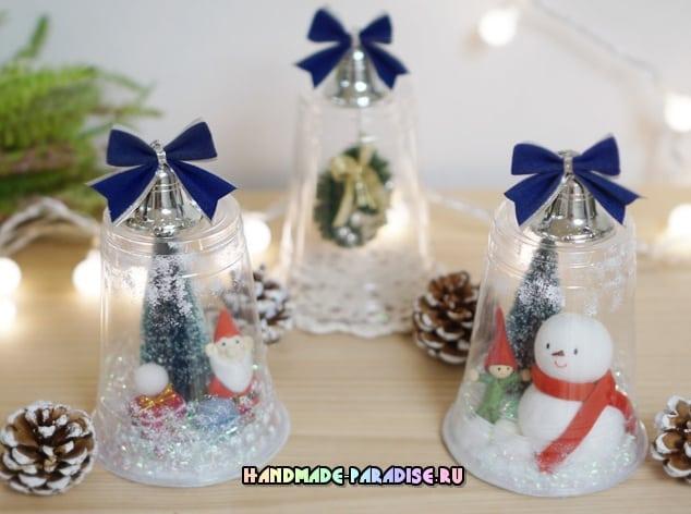 Новогодние поделки своими руками из пластиковых стаканов
