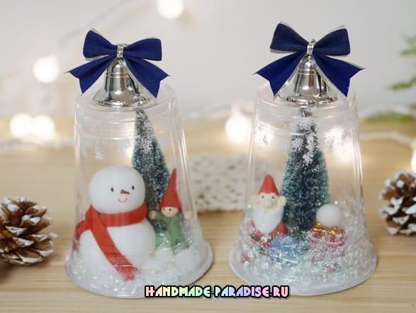 Новогодние украшения из пластиковых стаканчиков (2)