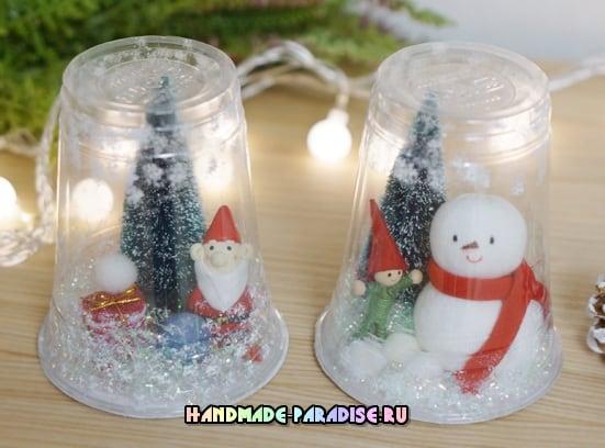 Новогодние украшения из пластиковых стаканчиков (3)