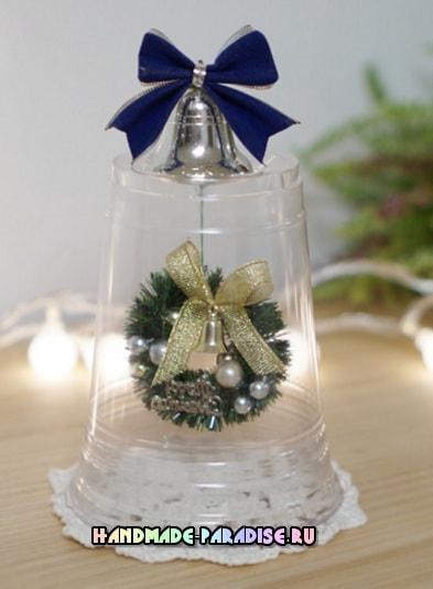 Новогодние украшения из пластиковых стаканчиков (4)