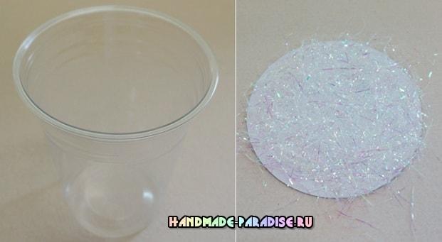 Новогодние украшения из пластиковых стаканчиков (5)