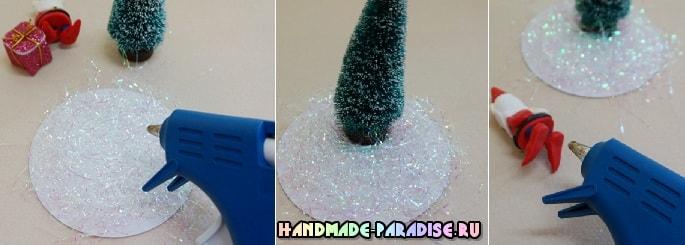 Новогодние украшения из пластиковых стаканчиков (7)