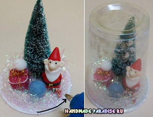 Новогодние украшения из пластиковых стаканчиков (9)