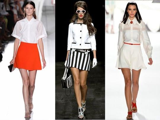 Нужно правильно выбирать короткие юбки