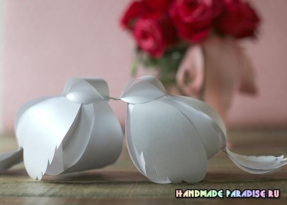 Птички и новогодние подвески из бумаги