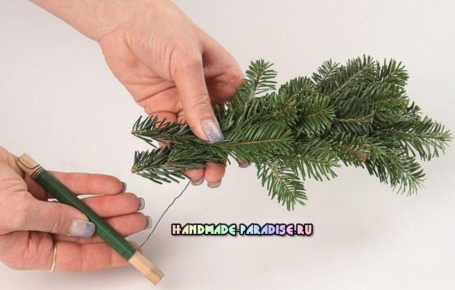 Рождественский венок - подсвечник своими руками (10)