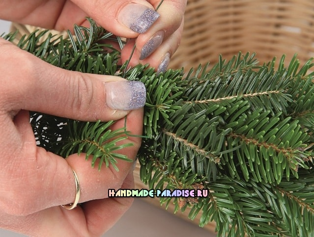 Рождественский венок - подсвечник своими руками (11)